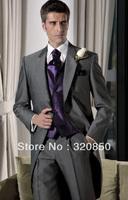 custom cheap long style High quality Groom Tuxedos Best man Suit Wedding Groomsman wear dress/Men's Suits/bridegroom for dress