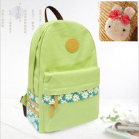 Hot selling Canvas bag backpack preppy style student backpack young girl vintage bag school bag