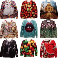 [Amy]Free Shipping Sale!!New Fashion 2013 Women/Men Space Galaxy Sweatshirts Funny Panda 3d sweaters hoodies Top S/M/L/XL