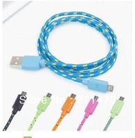New arrival Rope type Micro usb cable for Samsung Galaxy S4 mini/i9500/i9190/Moto X/HTC ONE/Z/Nolia Lumia free shipping
