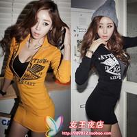 установлена новая осень-зима 1261 осень платье с длинными рукавами прилив новых корейских женщин темперамент