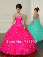 Ball Gown Ruched Corset with Beads Ruffles Organza Skirt Floor Length black and white quinceanera dresses