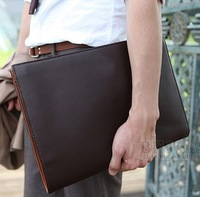Tidal current male envelope bag fashion commercial a4 file bag datagram all-match vintage briefcase
