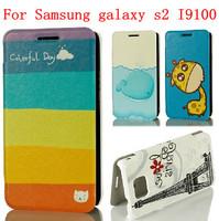 22  Species pattern CHUCK flip cover case for Samsung Galaxy S2 case Samsung Galaxy S2 cover Galaxy S II I9100 case flip case
