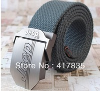 Free Shipping 2013 Fashion Brand Men and Women Braided LEATHER Canvas BELT / Sports Belt / 24 color casual outdoor climbing belt