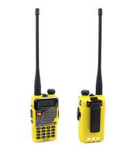 New A1041F UV-5RE Plus Yellow Walkie Talkie UHF+VHF 400-520MHz+136-174MHz 5W 128CH DTMF VOX 1750Hz Tone Radio