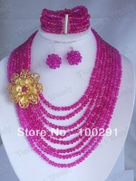 New african crystal beads jewely necklace
