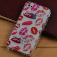 Sexy Kiss Lip Colorful TPU Soft Case Cover Skin For Apple iPhone 4 4s Free Shipping