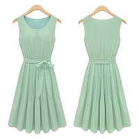 Summer New Fashion 2013 Korean girls' chiffon Peplum Lolita dresses Vestidos Free Shipping Casuales Dress One Piece