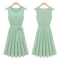Summer New Fashion 2014 Korean girls' chiffon Lolita dresses casual vestidos Free Shipping