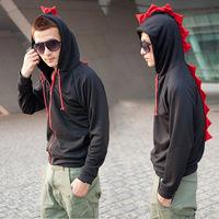 Free shipping,Spring&fall men fashion hoodies sweatshirt outerwear Men's Jacket ,Men's Dust Coat Hoodies dinosaur Clothes