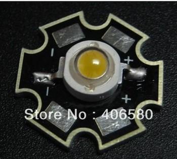 High Brightness 1W High Power White LED  Aluminum PCB & Solder the LED to the PCB 100pcs/lot free shipping