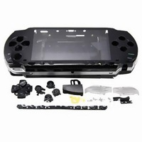 Free Shipping new  Black Full Housing Front Faceplate Shell + Back Cover Buttons for PSP 1000 1001