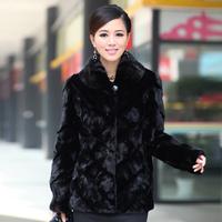 Queen 2013 mink fur overcoat medium-long women's fur coat