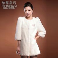 Queen 2013 medium-long mink fur overcoat women's fur coat