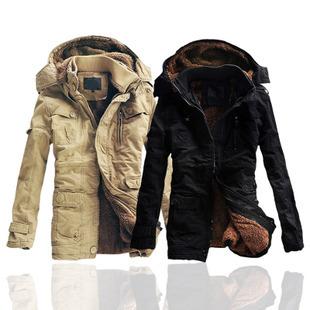 2014 hot sale winter men thick warm  long cotton overcoat men wadded jacket