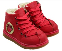 Free shipping 2013 new Kids Children's warm cotton-padded shoes Baby Boys and Girls boots winter sneakers