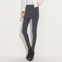 2013 women's spring cashmere dress pants legging skirt twinset autumn and winter thickening legging
