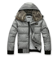 Outdoor jacket Men's clothing male casual down coat fur collar slim down coat  down jacket man