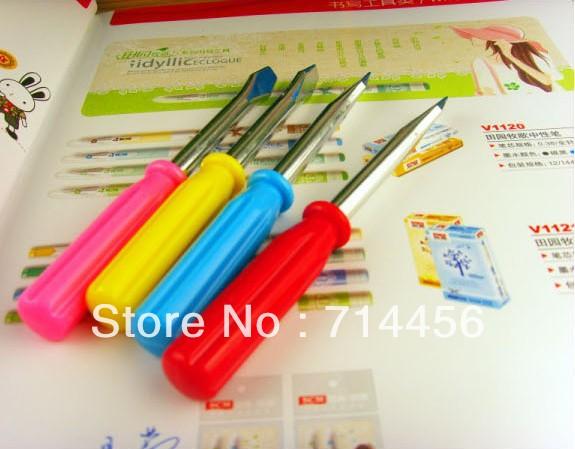 Free shipping 20pcs/lot Cute Kawaii Novelty Screwdriver style Ballpoint Pens Lovely Ball Pen Blue core Stationery(China (Mainland))