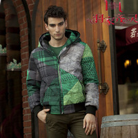 Outdoor jacket 2013 male short design down coat 2116 semi-finished products  down jacket man