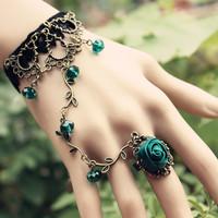 2013 Free Shiping Bohemia Vintage Flower Vine Fairy Crystal Elegant Lace Diy Bracelet Accessories Bracelet