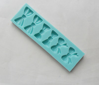 1pcs Bow type Muffin Sweet Candy Jelly Ice Silicone Mould Mold Baking Pan Tray Mak E537 Free Shipping