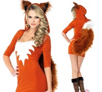 Halloween witch costume dress cosplay fox drag queen dress cat girl animal nightclub performances costume
