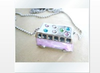 Silver star belt barrowload bus necklace