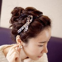 Accessories hair accessory hair bands headband leopard print broad-brimmed hair accessory bow belt hair accessory hair pin