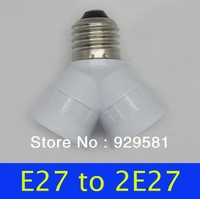 For Christmas gift E27 to 2E27 Led holder ABS & Brass white Led Bulb