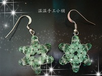 Ww accessories earrings candy color jelly green crystal fashion ol small fresh