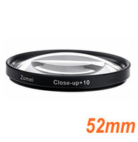 Free shipping High Quality 52mm Macro Close Up  +10  Close up Filter Lens 52mm For Nikon Canon Sony Camera