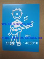 64 designs (64pcs/lot )Superior family car stickers  --- DH4008