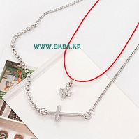 Accessories sparkling diamond cross necklace 251880