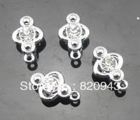 wholesale 50pcs/lot One rhinestone clasp 8mm (fit 8mm belt) DIY charm fittings accessory