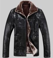 Free shipping Men's wear brand new leather, High-grade sheep skin, Genuine Leather jacket, men winter fur coat ,M-5XL