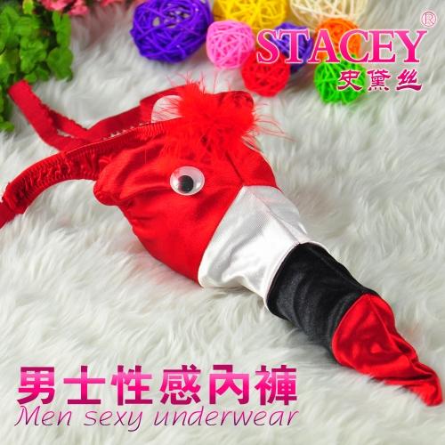 Bling Recomendar Frete Grátis Atacado 2pcs/lot roupas íntimas sexy dos homens colorido calças Pássaro T Homens Lingerie(China (Mainland))