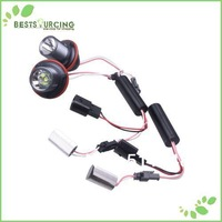 free shipping 3pairs LED White Lamp Angel Eyes 10w Super Bright E39 CREE Auto LED Ring Marker Bulbs X3/5/6/7 Series