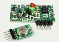 2pcs lot 315mhz RF wireless transmitter module + overload raw wireless receiver module +Free shipping