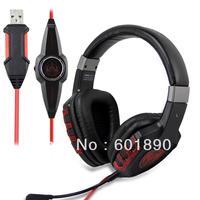 SOMIC G930 7.1 Audio Encoding Headphone Gaming Earphone USB Game Player Headset w Mic wholesale free shipping #160846