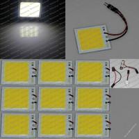 Free shipping Wholesale White 4W COB Chip T10 48LED Car Interior Light T10 Festoon BA9S Dome Adapter 12v, Car Vehicle LED Panel