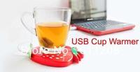 free shipping,comperter mini usb heater,calorifier heater, water warmer,novel product, strawberry cute USB Cup Warmer