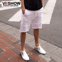 Viishow summer new arrival shorts male slim cotton wei pants male capris shorts