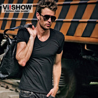 Viishow male short-sleeve v-neck T-shirt male short-sleeve T-shirt male all-match fashion men's clothing 6 slim