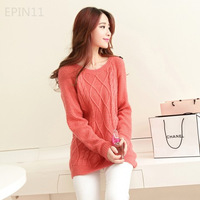 Strapless 2013 autumn sweater women pullover sweater basic shirt loose long-sleeve sweater female
