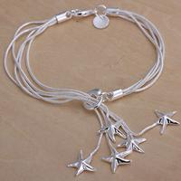 H099 Freeshipping bracelet Silver Jewelry jewellry Charm Tag chain Bracelets Brand New