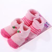 Autumn and winter supplies newborn baby thickening socks autumn and winter cotton 100%