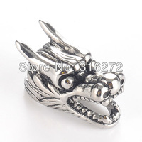 Free Shipping! 3pieces Stainless Steel Dragon Head Pendant with Necklace Chain MEP01-11