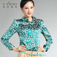2013 autumn plus size formal all-match silk mulberry silk shirt female long-sleeve top